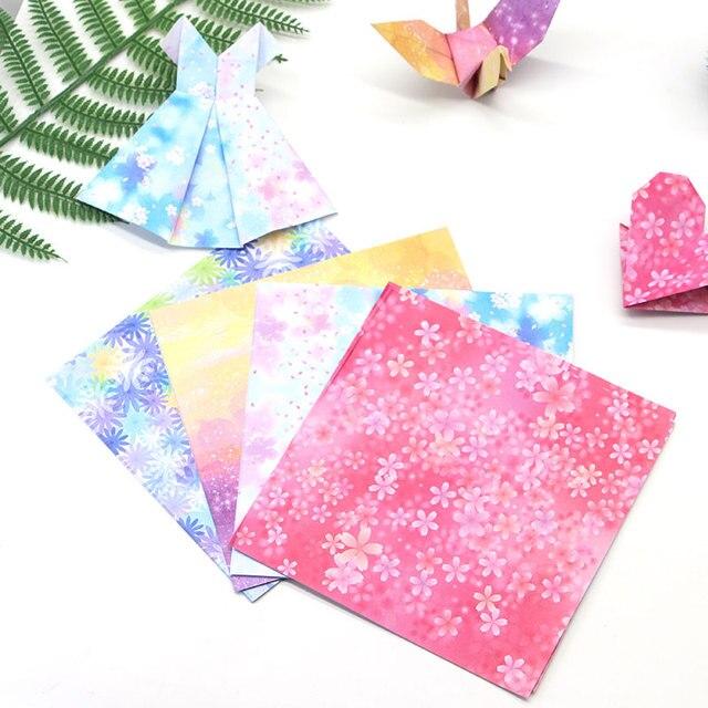 40pcs 40cm Square Cranepaper Origami Paper Creative Floral Chiba Beauteous Patterned Origami Paper