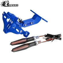 Universal Motorcycle License Plate Bracket Holder With LED Light For Buell XB12R XB12Scg XB12Ss Ulysses XB12X  Ulysses XB12XT цена