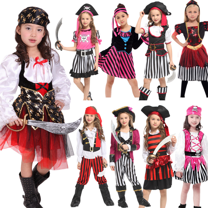 Umorden Halloween Carnival Party Costume for Girl Girls Kids Children Pirate Costumes Fantasia Infantil Cosplay Clothing