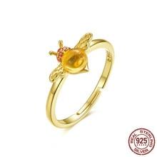 Baby Bee Adjustable Ring For Women 925 Sterling Silver Red Cz Big Stone Finger Ring Anti-allergy Korean Jewelry Bsr034 цена в Москве и Питере
