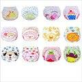 6 Peças Baby fraldas Reutilizáveis Lavável Fraldas Grade/Versão Formação Calça Fralda de Pano de Algodão Do Inverno Do Bebê Verão Fraldas