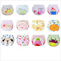 6 Pieces Baby diapers Washable Reusable Nappies Grid/Cotton Training Pant Cloth Diaper Baby Winter Summer Version Diapers
