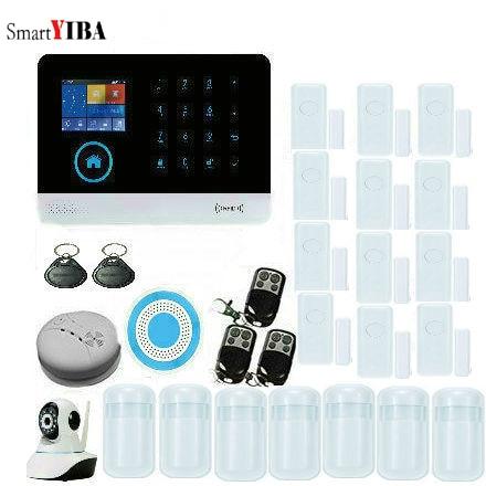 SmartYIBA Multi language 2.4G WiFi 3G SIM GPRS SMS Alarmes APP Control WCDMA Security Alarm