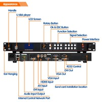rgb led outdoor strip display video processor indoor display boards lvp613u USB led video processor for led display outdoor