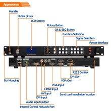 Rgb tira levou ao ar livre exibição de vídeo processador lvp613u USB placas de exposição interna levou processador de vídeo para exibição levou ao ar livre