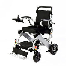 2019 net weight 19.8kg Fashion high quality double lithium battery foldable electric disabled elderly wheelchair