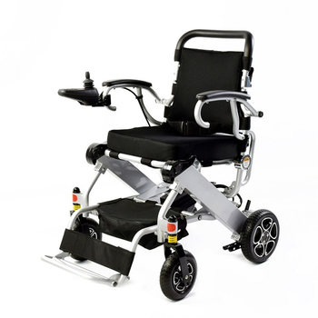 fashion smart folding  portable electric wheelchair can be on the plane,  old people walk chair