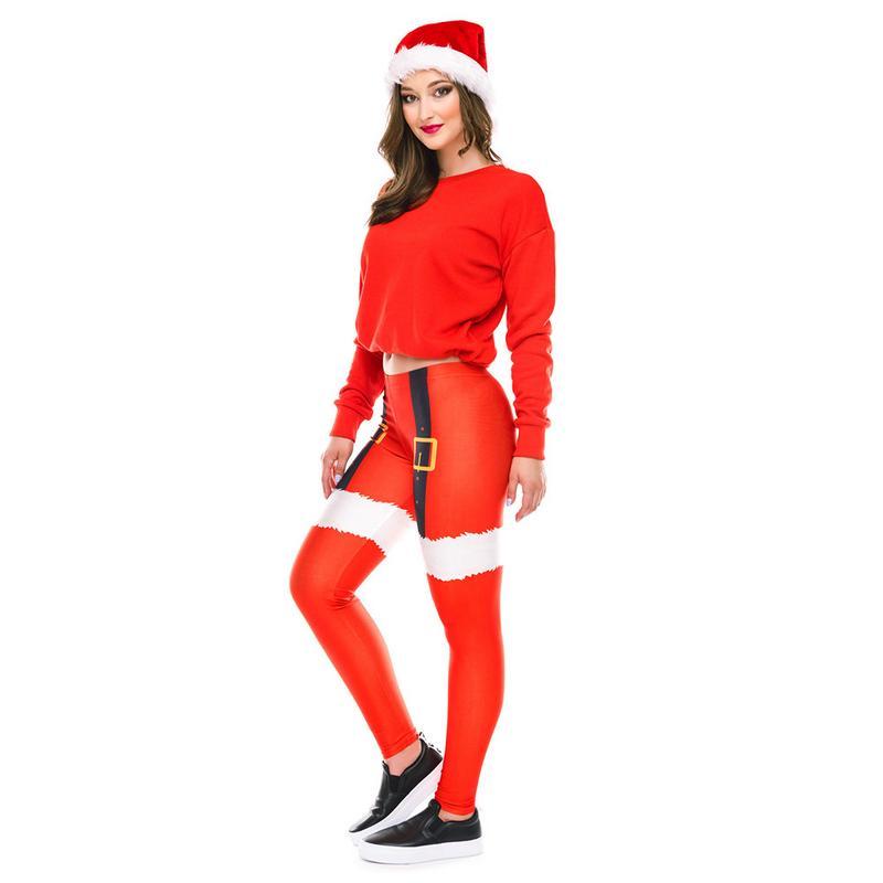 2018 Neue Yoga Hosen Digital Weihnachts Drucken Sport Fitness Leggings