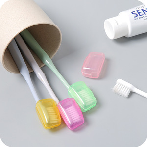 Image 4 - FOURETAW Creative Wheat Straw Colour Outdoor Business Travel Portable Toothbrush Head Case Protector Box