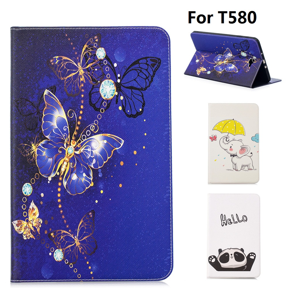 Cartoon animals Pattern PU and PC With Card Slot Cover Case for Samsung Galaxy Tab A 10.1 2016 T585 T580 SM-T580 T580NCartoon animals Pattern PU and PC With Card Slot Cover Case for Samsung Galaxy Tab A 10.1 2016 T585 T580 SM-T580 T580N