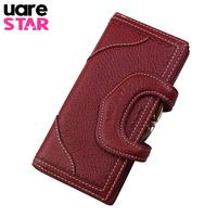 Brand Women Wallets 2017 Fashion Designer Short Wallets Female Genuine Leather Women Clutch Handbag Cards Holder