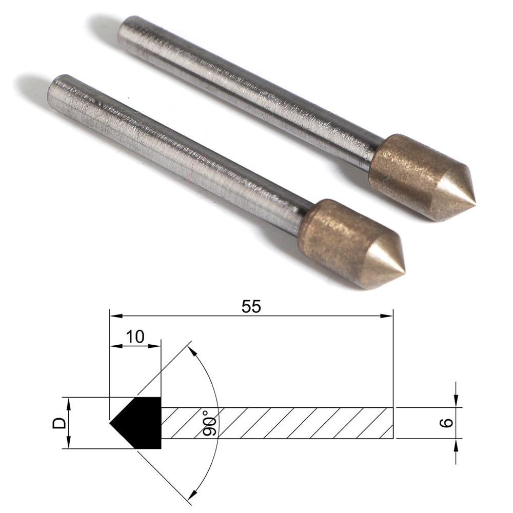 3 millimetri Dia Shank montato 12pcs Point strumento della rotella per Metal Vetro di lucidatura
