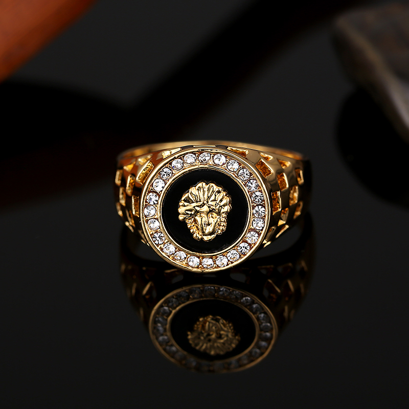 Best Selling High Quality Cubic Zirconia Hip Hop Head Man Ring