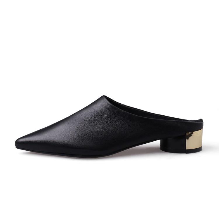 En Été white 33 Peau De As Pantoufles Black Slip Femmes Style Couleur Mljuese Photo Blanc color Étrange Mouton 40 Taille Sandales Pointu Rome Bout 2019 Sur ntq0wBnIH