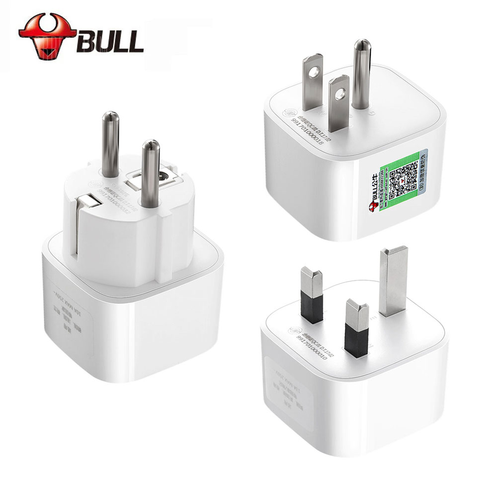 BULL GN901X International Universal US AU to EU EURO Europe US America UK AC Power Socket Plug Travel Charger Adapter Converter universal 6 port usb ac power adapter us uk au eu plug adapters set for iphone ipad ipod