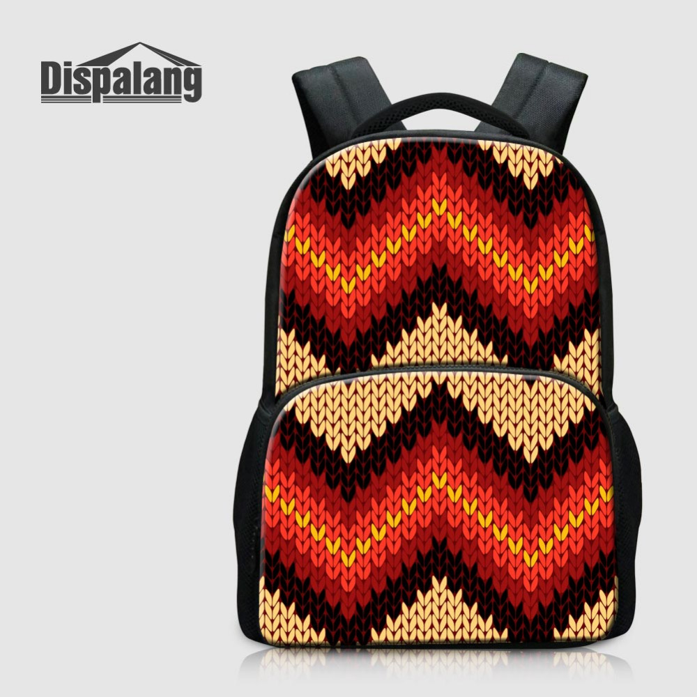 Dispalang Casual Women Laptop Backpack Striped Printing Large Felt Backpack Knitting Schoolbag For Teenagers School Bag For Kids dispalang creative stars print kids schoolbag felt laptop backpack for men women school bag for children galaxy student rucksack