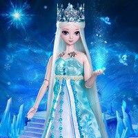 Bjd sd muñeca de Hadas princesa de hielo Elf Sueño 1/8 del cuerpo de la muchacha juguetes cosméticos ojos alta calidad resina creativa al azar mezclar y combinar