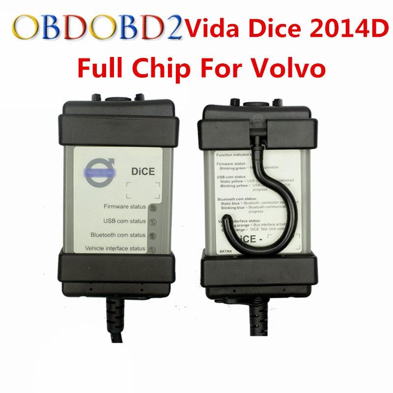 Для Volvo Vida кости 2014D Автомобильный сканер для Volvo Multi-язык Vida кости последней версии с полный чип для Volvo Vida кости