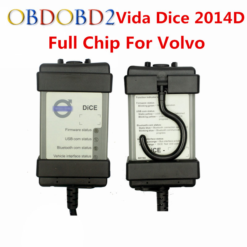 Full Chip For Volvo Vida Dice Newest 2014D Diagnostic Tool Multi-Language For Volvo Dice Pro Vida Dice OBD2 Auto Scanner пламенный мотор машинка инерционная volvo пожарная охрана