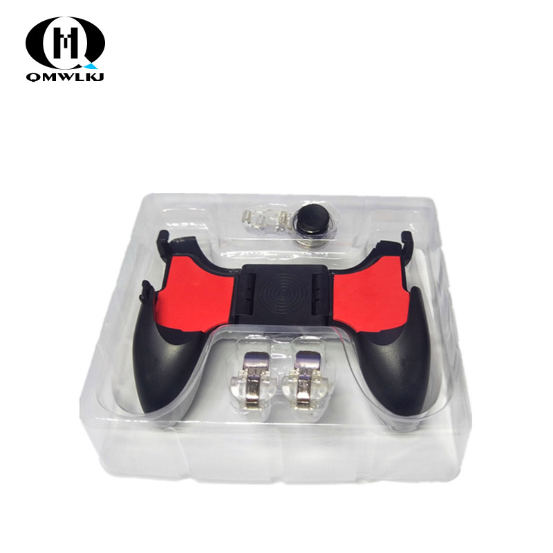 PUBG Mobile Controller 5in1 Mobile Phone Gamepad Joystick / Trigger L1r1 Pubg Fire Buttons For iPhone Android IOS-in Gamepads from Consumer Electronics