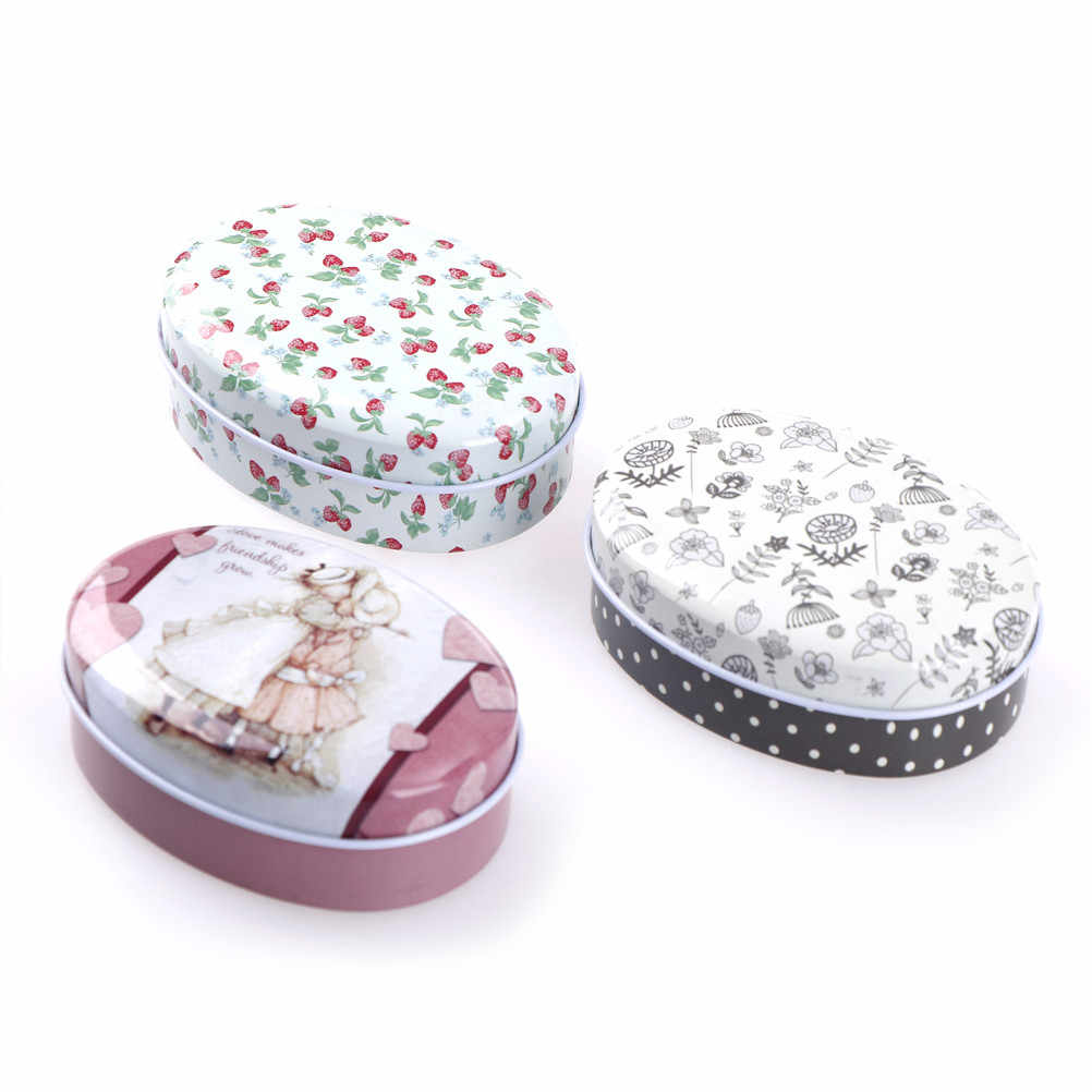 MENGXIANG mini European Soap box shape candy storage box wedding favor tin box  cable organizer container household