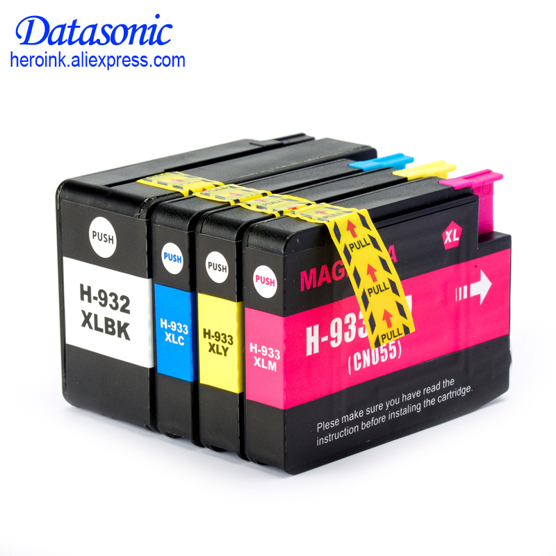 DAT 4PK For H P 932 933 932XL 933XL Compatible Ink Cartridge For H P Officejet 6100 6600 6700 7110 7610 7612 7510 7512 Printer 8 pieces lot 932 933 auto reset chip show ink level for hp officejet pro 7512 7612 7510 6600 6100 7110 7610 printer