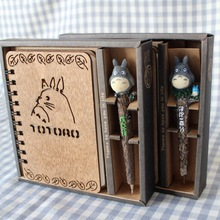 Творческий милый мультфильм Тоторо планировщик Тетрадь набор дневник деревянный школьные принадлежности подарок школьного подарок на день рождения