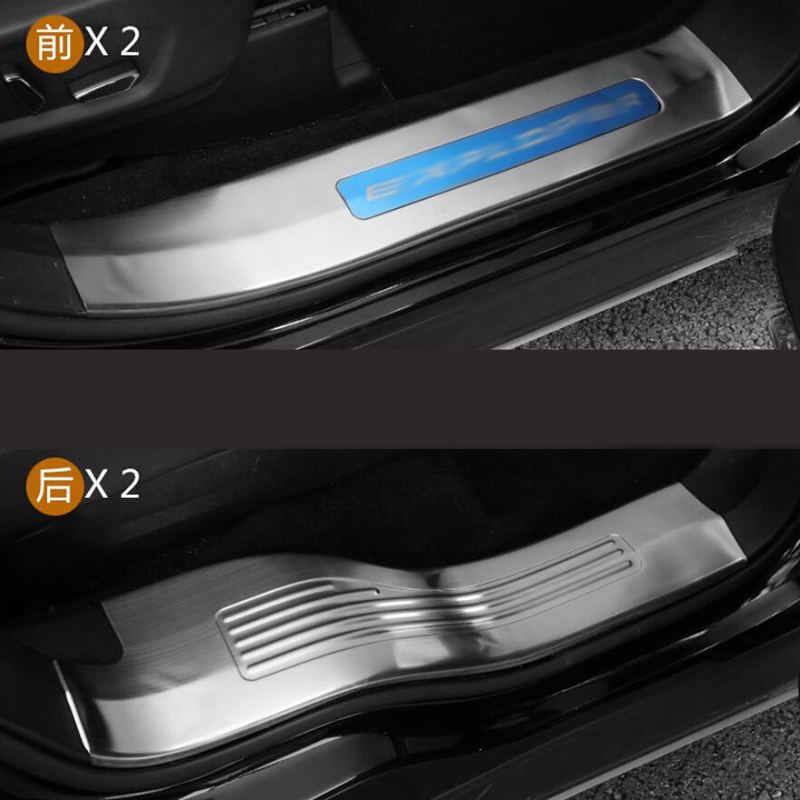 Fits Honda Accord 2013-2017 Stainless Door Sill Scuff Plate Cover Outside Silver