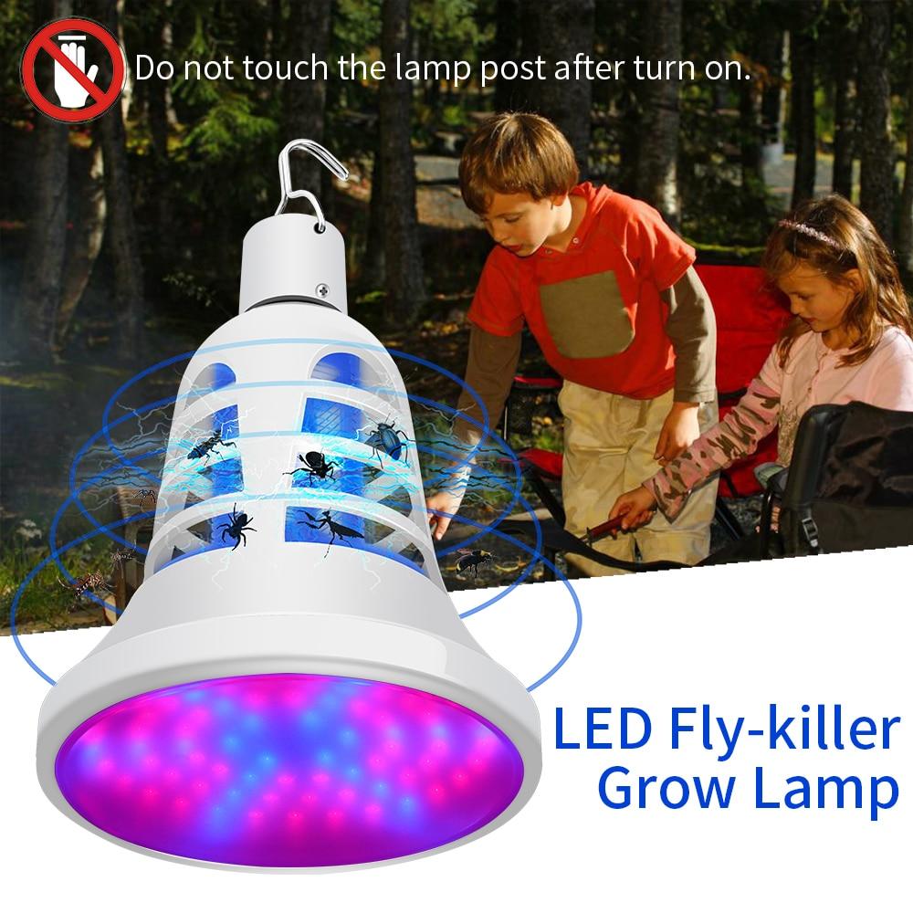 E27 LED Mosquito Killer Lamp Grow Light For Plant USB LED Lamp Anti Mousquito Bulb 220V LED Plant Lamp Insect Trap Elektrik 110V