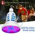 E27 LED sivrisinek katili lamba bitki büyümek için ışık USB LED lamba Anti ultra-mikrofiber ampul 220V LED bitki lambası böcek tuzak Elektrik 110V
