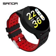 Sanda B2 Smart Watch 1.3 Inch 240*240 Tempered Glass Screen IP67 Waterproof Heart Rate Monitoring Blood Pressure For Men Women