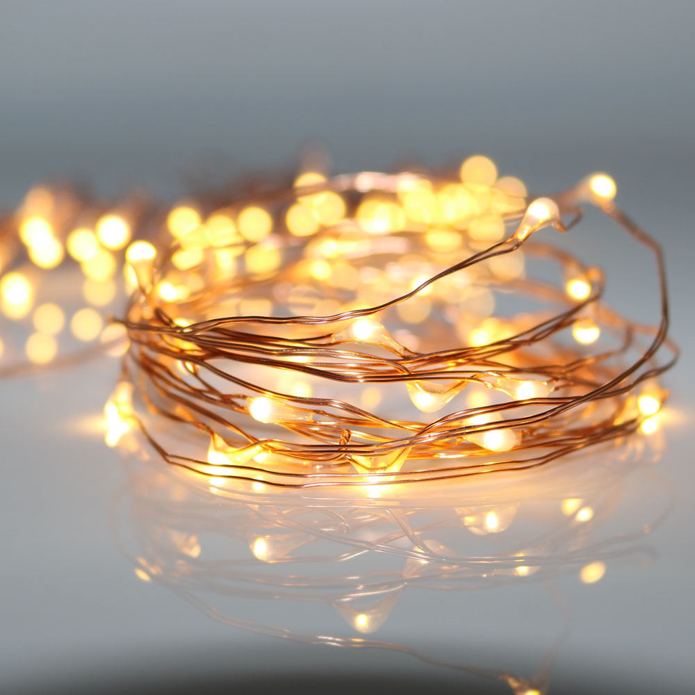 HarrisonTek 2M 20LEDs Fairy Lights bateri CR2032 Copper Wire String Light Krismas Parti Holiday Hiasan Perkahwinan Lampu