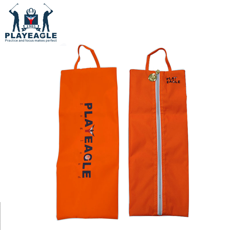 PLAYEAGLE 3 Pcs/set Waterproof PVC Protable Golf Shoes Bag Zipped Small Golf Bag For Men And Women