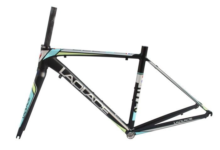 LAPLACE 720 Road bike 700C frame  frameset ultralight aluminium alloy road bike frame and fork headset clamp 44 46 48cm 3 colors