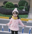 Sweet Baby Star Casual Sweatshirts Fleece Lining Tops Autumn Winter Jumper Tee Cute Girls Applique Pullover Sweatshirts