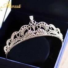 Vintage Royal Cubic Zirconia Bridal Crowns AAA+ Zircon Wedding Tiaras Women Crystal Crown Bride Hair Jewelry Accessories CR020
