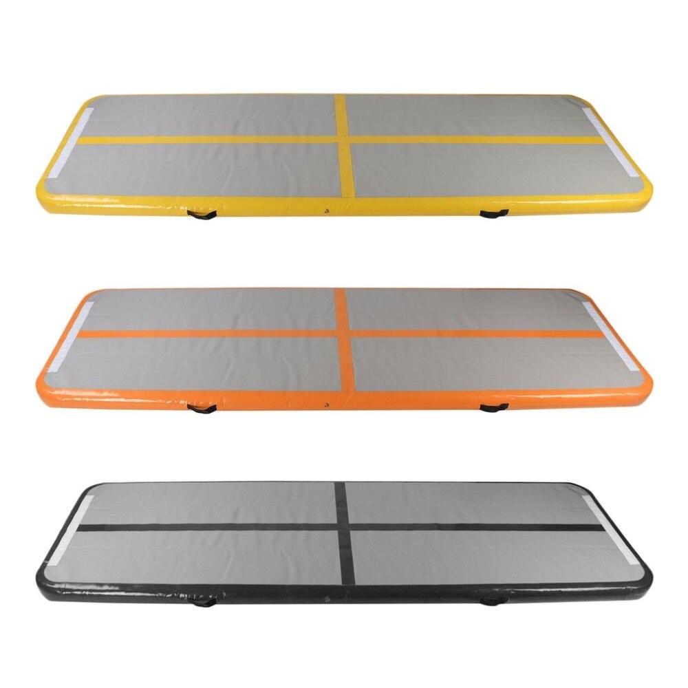 Tapis gonflable de Yoga de 90*300*10 CM plancher d'intérieur de gymnase d'entraînement de forme physique de culbuteur de tapis d'exercice extérieur de voie d'air pour des gymnastes