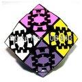 Lanlan Gear rómbico Dodecahedron Gear Dodecahedron 12 lados Quadrangle cubo mágico negro