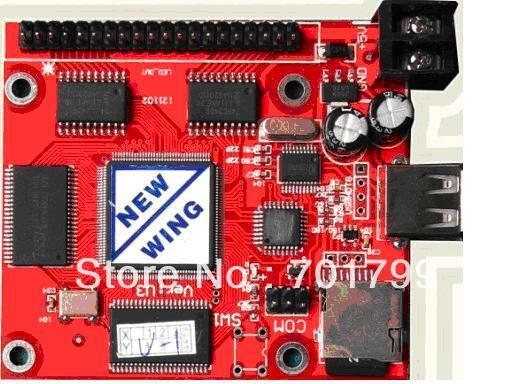 asynchronous Full color led display control card with hub transfer board;40960 pixels controlled