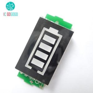 Image 2 - 3S 3 celular Indicador de capacidad de batería de litio para 12,6 V pantalla azul eléctrico vehículo eBike batería medidor de corriente Li po Li ion