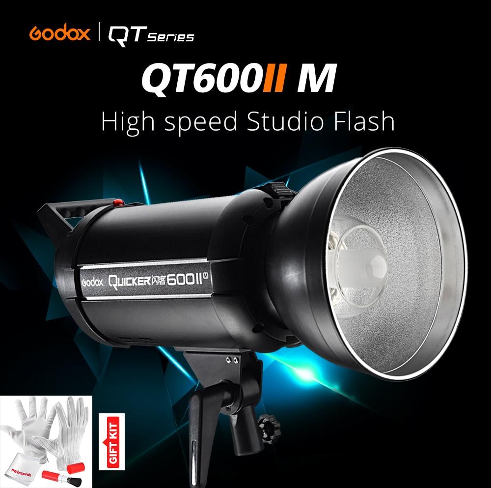 Godox QT-600IIM QT600IIM 600WS GN76 110V 1/8000s High Speed Sync Flash Strobe Light with Built in Godox 2.4G Wirless X System godox qt400ii 400ws gn65 high speed sync flash light 1 8000s built in 2 4g godox wireless x system recycle time in 0 05 0 7s
