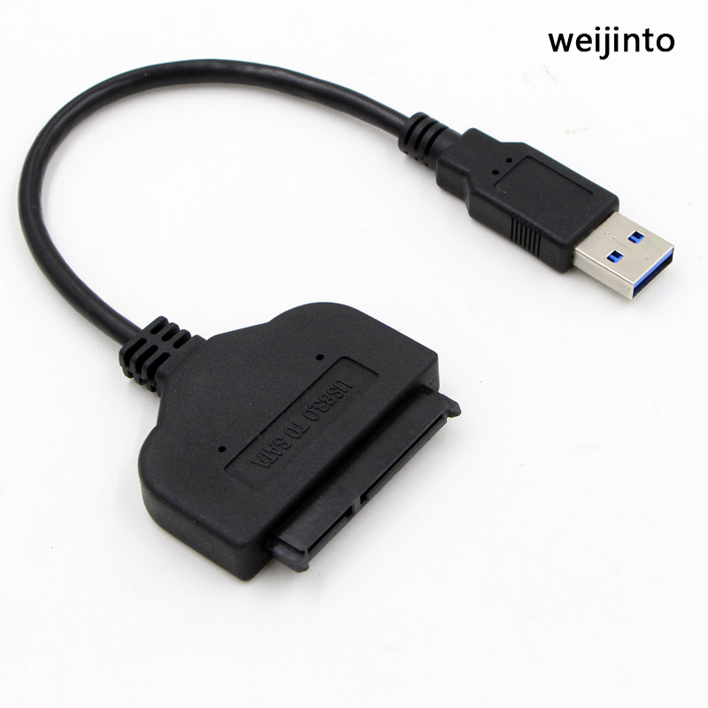 USB 3.0 to SATA3 adapter  22 Pin sata cable for 2.5 SSD HDD HD Hard Disk Driver SSD Converter by weijinto usb 3 0 to sata 22 pin adapter cable ssd case set black
