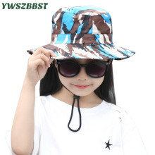 New Summer Sun Hats for Girls Children Visor Cap Boys Breathable Fisherman Hat Kids Bucket Spring Baby Sunscreen Caps