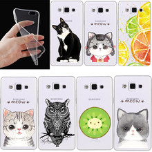 Phone Cases For Samsung Galaxy S3 S4 S5 S6 S7 edge S3/S4/S5 J3 J5 A3 A5 A7 A8 Note 2 3 4 5 Soft Tpu Transparent Cat Cover(China)