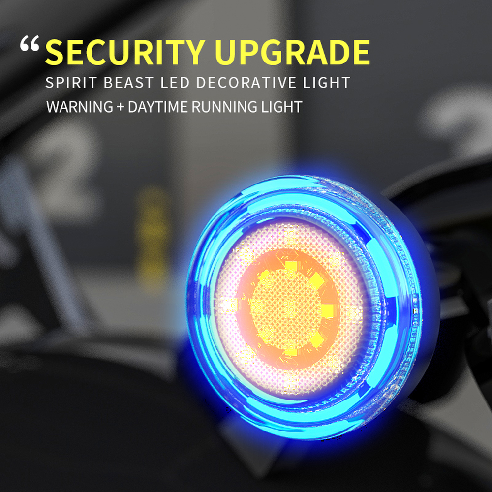 Spirit Beast Motorcycle LED Lights Highlight Headlights Accessories 12V Motor ATV SCOOTER Motorbike Light