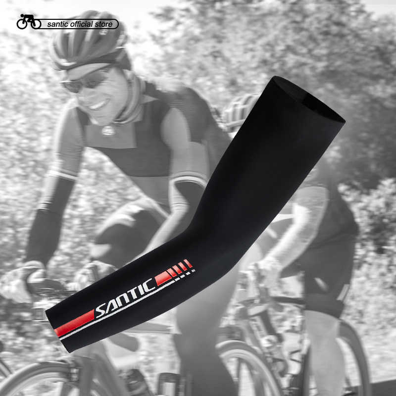 8c43acb63e Detail Feedback Questions about Santic Cycling Arm Warmers Cool Feeling Sun  protectiv Arm Sleeve Outdoor Sport Basketball Baseball Breathable Asia S XL  ...