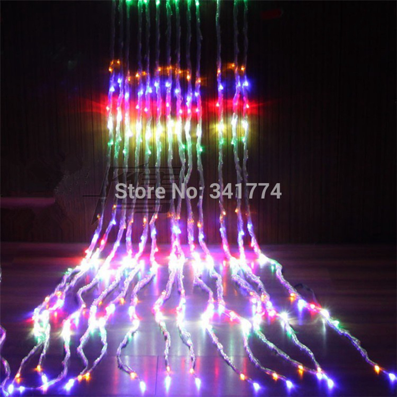 63m 600 leds waterfall led landscape lights garden christmas lights garland curtain holiday wedding - Waterfall Christmas Lights