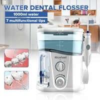 Nicefeel 1000ML Water Dental Flosser Electric Oral Irrigator Care Dental Flosser Water Toothbrush Dental SPA with 7pcs Tips