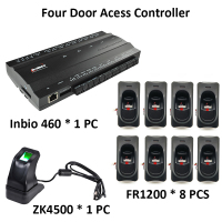 ZK Inbio460 Tcp/Ip Four door Access Control System with FR1200 Fingerprint Reader ZK4500 Fingerprint Scanner
