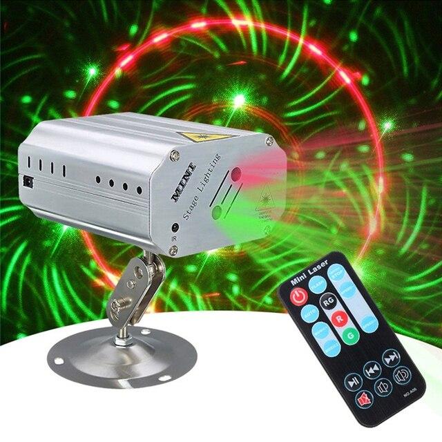 AC100-240V 1,15 Вт мини лазерный сценический свет с креплением поддержка автоматического запуска/Звук активирован/пульт дистанционного управления DJ Show KTV Bar